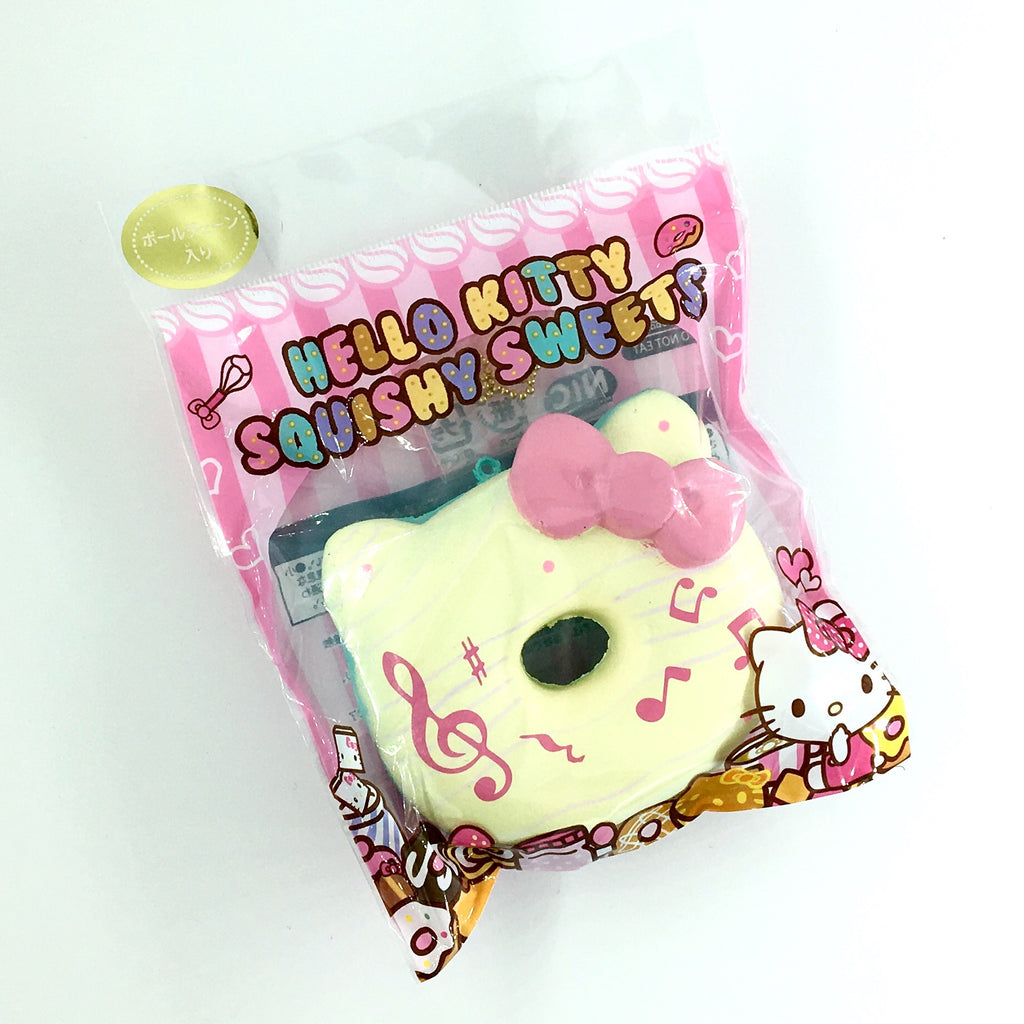 Sanrio Hello Kitty Donut Squishy Yellow Music Notes