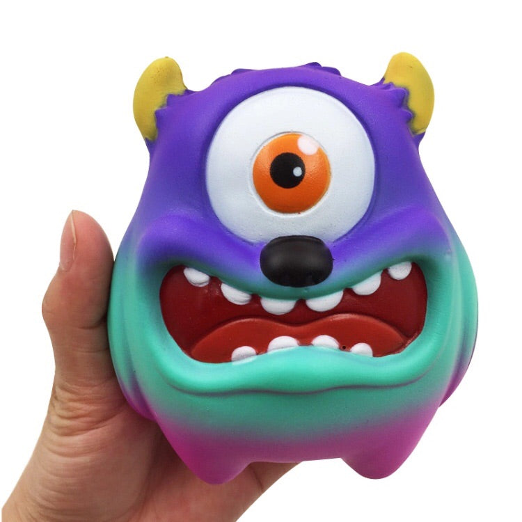 Jumbo Friendly Cyclops Monster Slow Rising Squishy in Galaxy Color
