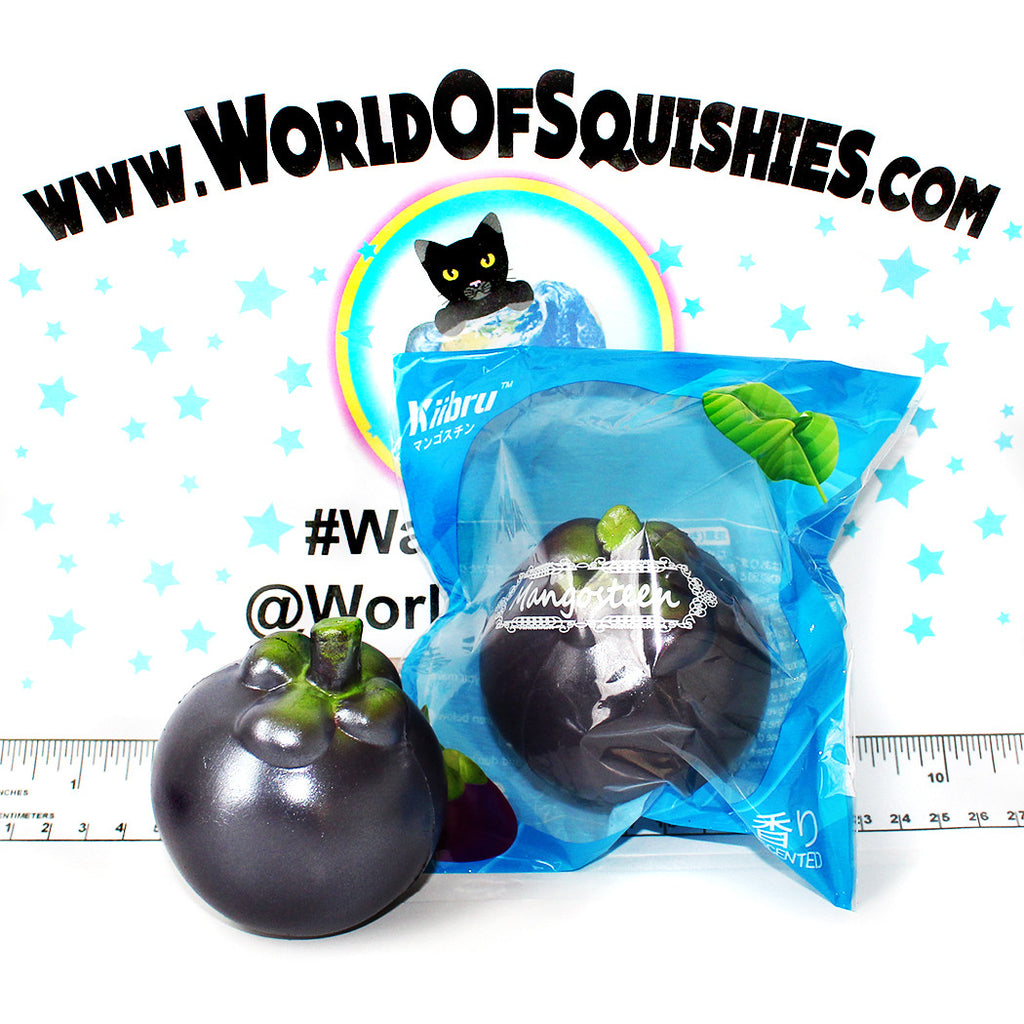Squishy Purple Banana 25 : Kiibru Mangosteen Squishies - World Of Squishies