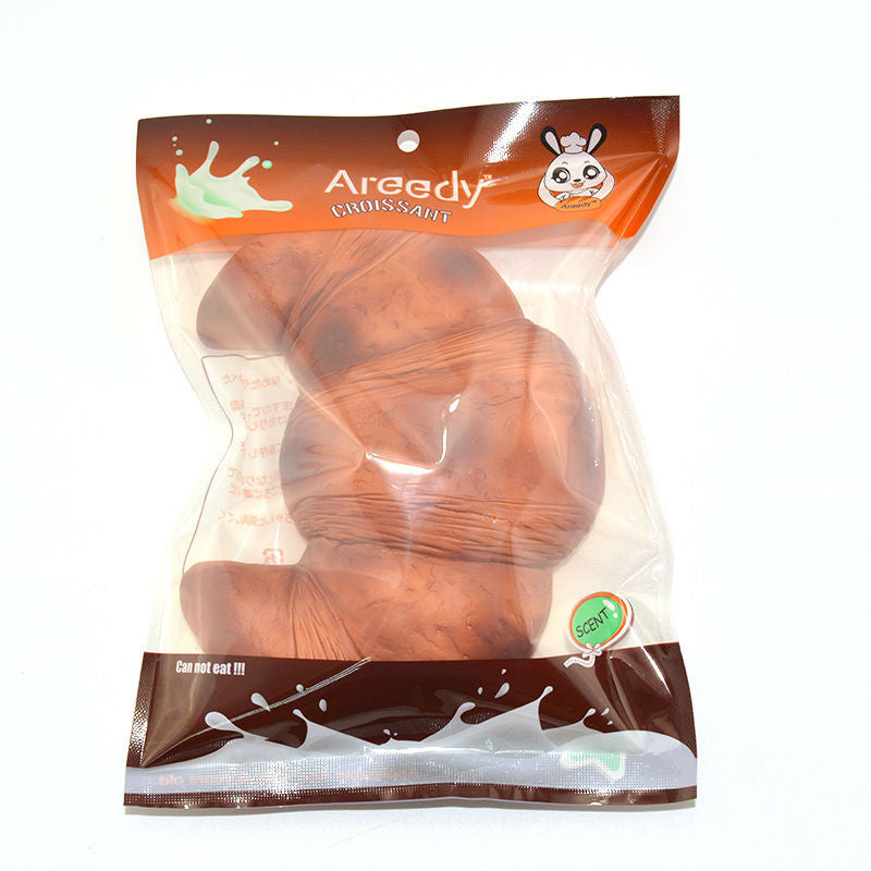 World of Squishies Areedy Jumbo Croissant Squishy