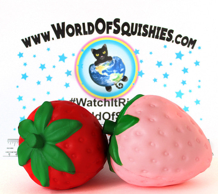 Jumno SUPER Slow Rising Pink and Red Strawberry Squishies at World Of Squishies