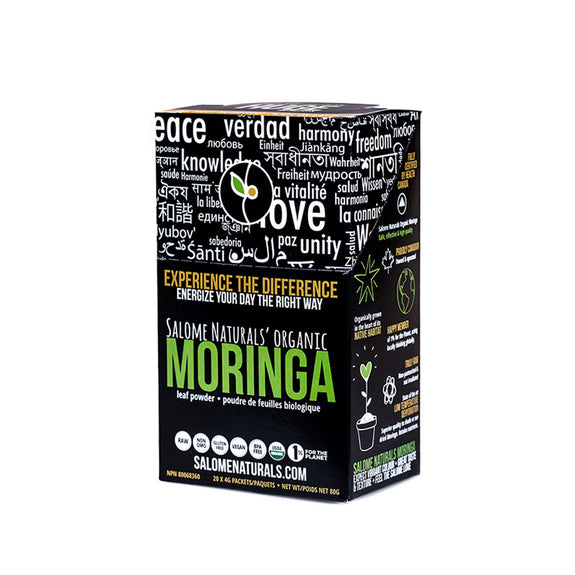 Organic Moringa Leaf Powder Stick Packs EarthBerry