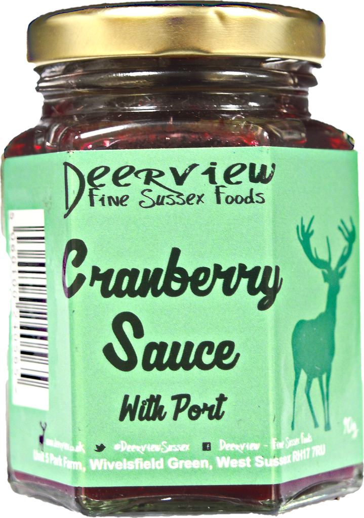 In this month's Englishwinebox - The perfect addition to your Christmas dinner, small batch handmade Deerview Cranberry Sauce with Port