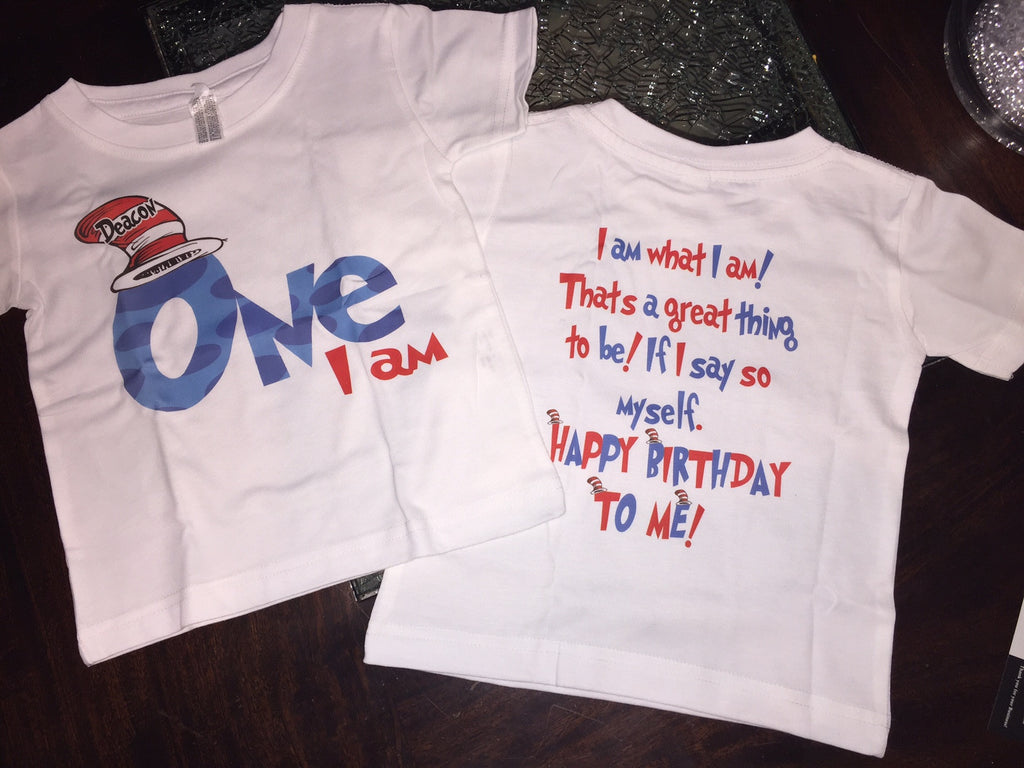 Dr Seuss Birthday Shirt With Saying On Back