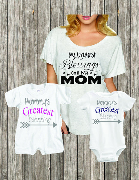 4c242df8 Mommy's Greatest Blessings, Mommy and Me Shirt