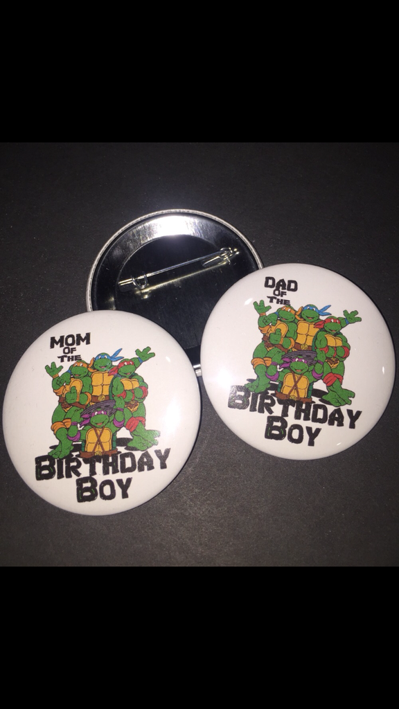 Ninja Turtle Birthday Pin