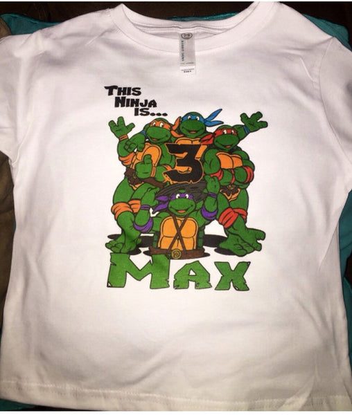 Ninja Turtle Birthday Shirt, Personalized Ninja Turtle Shirt