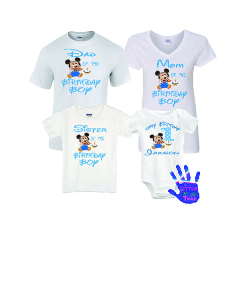 Mickey Mouse 1st Birthday Family Shirts LittlePersonalTouch