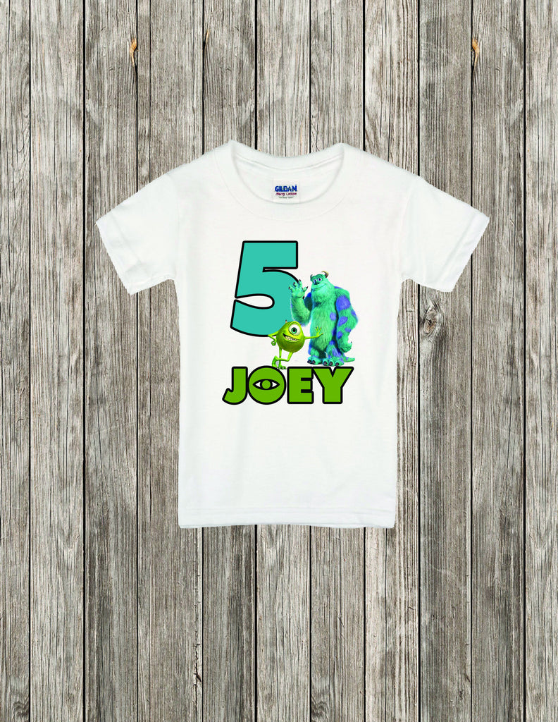 Monster Inc Birthday Shirt, Personalized Monster Inc Birthday Shirt