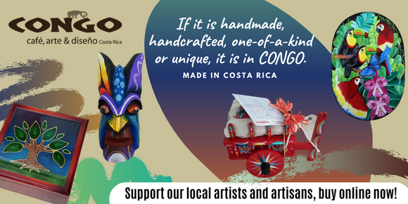 Costa Rica Congo Authentic Gifts Souvenirs Handmade Handcrafted Handpainted Wood Pura Vida