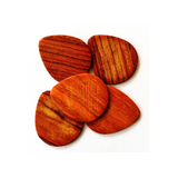 Wood picks for electric guitar made in Costa Rican rosewood + FREE WOOD GUITAR SHAPED MAGNET - Pack of 5 Picks - Congo Costa Rica