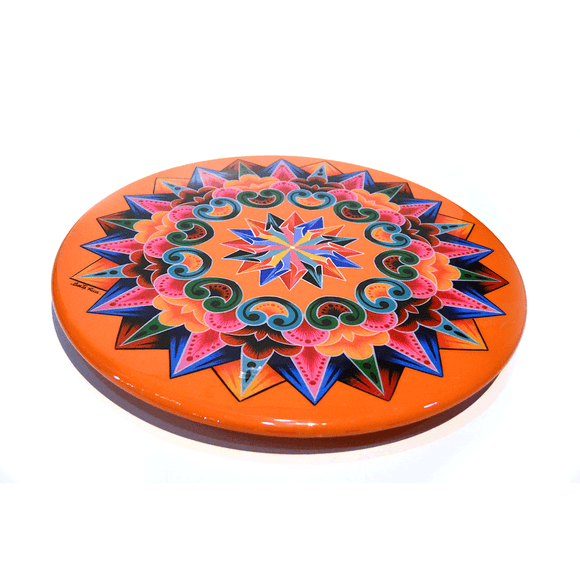 Wood Costa Rican OxCart Lazy Susan