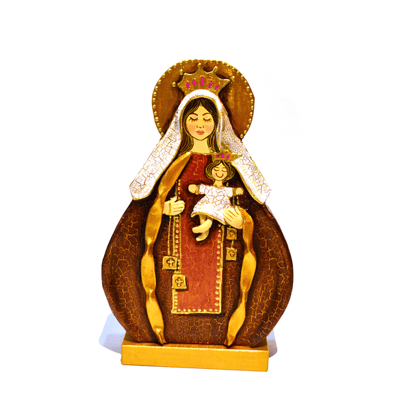 Wood Virgin Religious Sculpture - Congo Costa Rica
