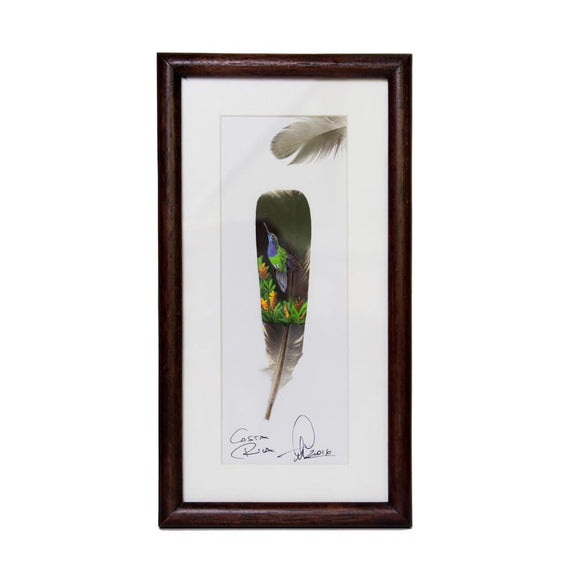 Feather painting #3.5 - Congo Costa Rica