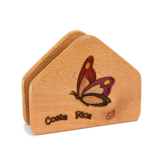 Wood Napkin Holder - Congo Costa Rica