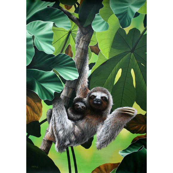 Giclee Art Work - Sloths - Congo Costa Rica