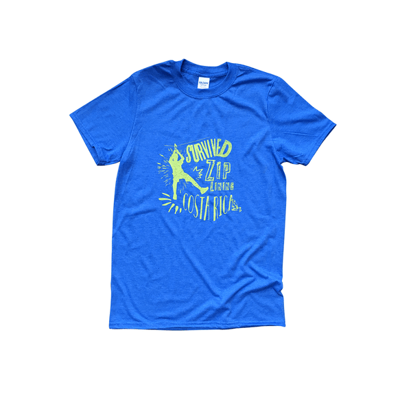 Survived Ziplining Costa Rica Tshirt - Congo Costa Rica