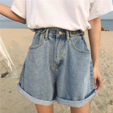 DENIM BOY SHORTS