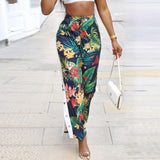 FLORAL BUTTON PANTS