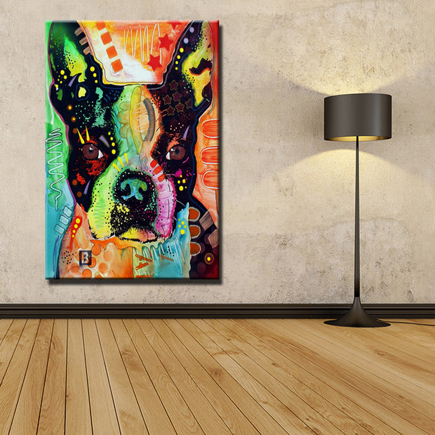 Boston Terrier Home Decorative Beautiful Wall Art Picture My Nifty Gadgets