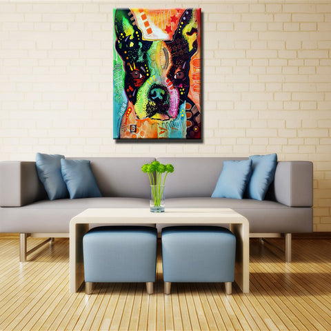 Boston Terrier Home Decorative Beautiful Wall Art Picture