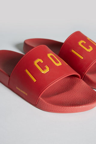 CHANCLAS ICON SLIDES ROJAS