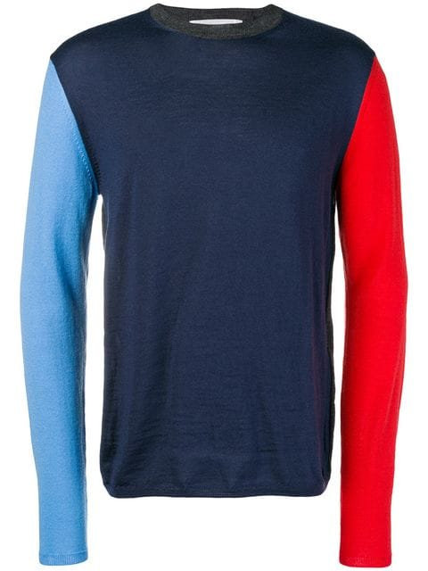 JERSEY PUNTO COLOR BLOCK AZUL/ROJO