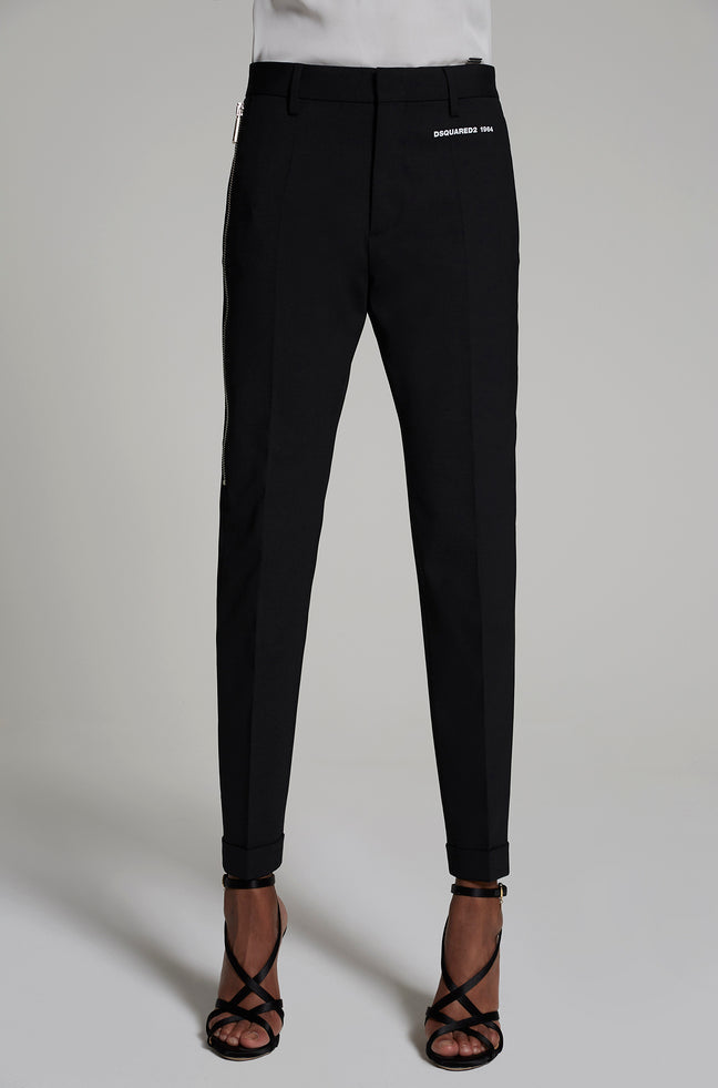 PANTALON STRETCH WOOL MAN CIGARETTE ARWEN