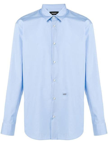 CAMISA LISA DSQUARED2 AZUL