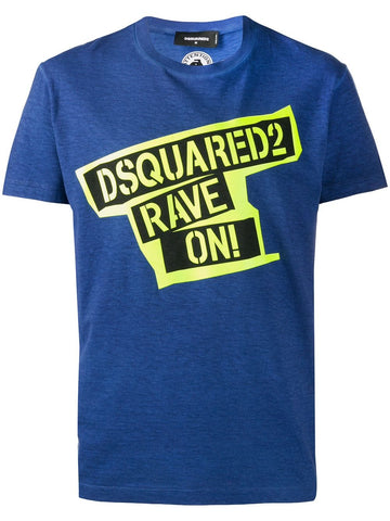 CAMISETA DSQUARED2 RAVE ON NAVY