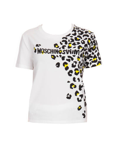 CAMISETA MOSCHINO SWIM ANIMAL PRINT BLANCA