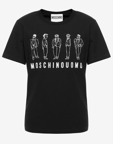 CAMISETA MOSCHINO UOMO STRETCH NEGRA