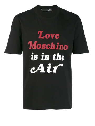 CAMISETA LOVE MOSCHINO IS IN THE AIR