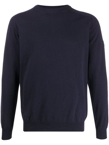 JERSEY COTTON LINEN GD CREW NECK NAVY