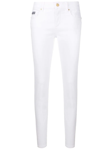 JEANS PITILLO BLANCO LOGOTIPO BORDADO