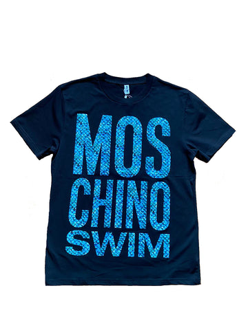 CAMISETA MOSCHINO SWIM ESTAMPADO ESCAMAS