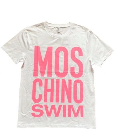 CAMISETA MOSCHINO SWIM BLANCO/ROSA