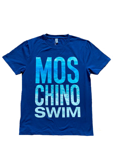 CAMISETA MOSCHINO SWIM ESTAMPADO AGUA
