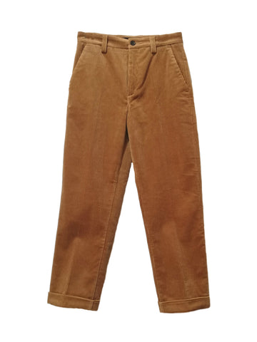 PANTALON PANA DOBLADILLO MARRON