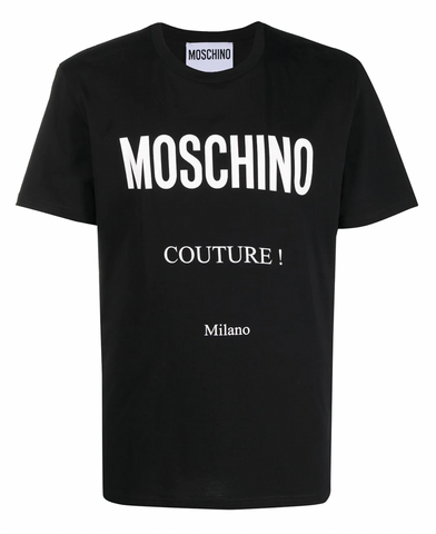 CAMISETA MOSCHINO COUTURE ESTAMPADO NEGRA