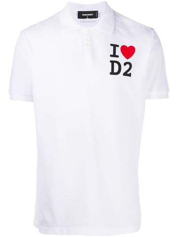POLO I LOVE D2 BLANCO