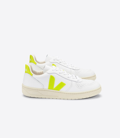 V-10 LEATHER EXTRA WHITE JAUNE FLUO (MUJER)