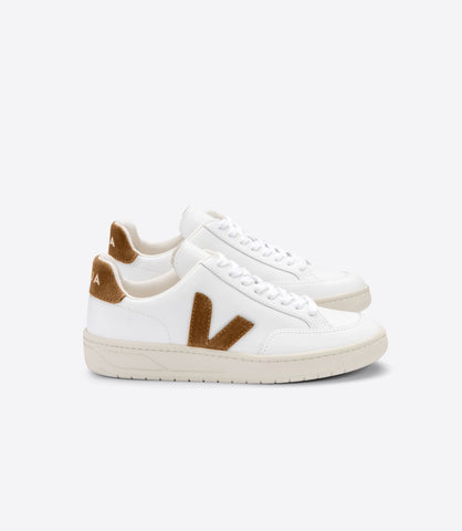 V-12 LEATHER EXTRA WHITE CAMEL (UNISEX)