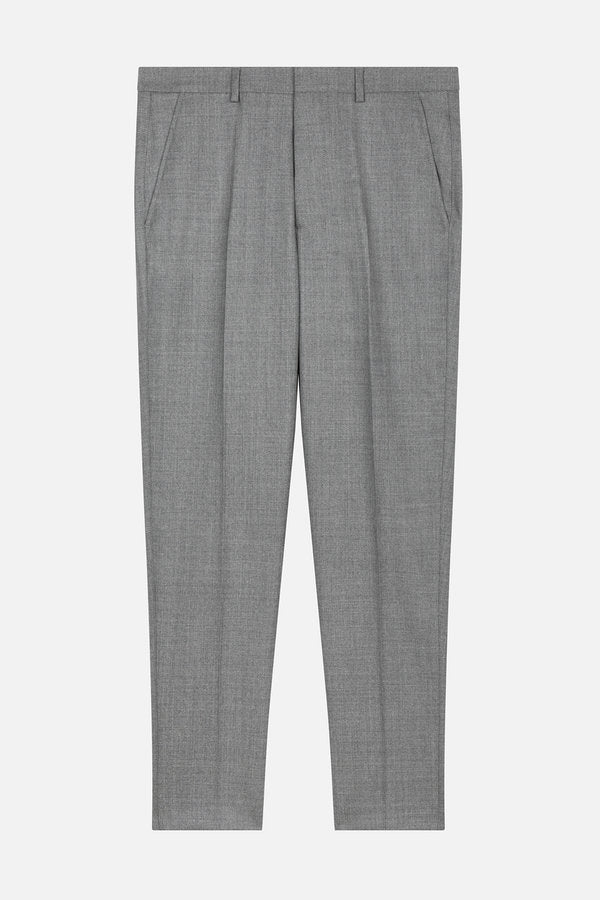 CARROT FIT TROUSERS GREY