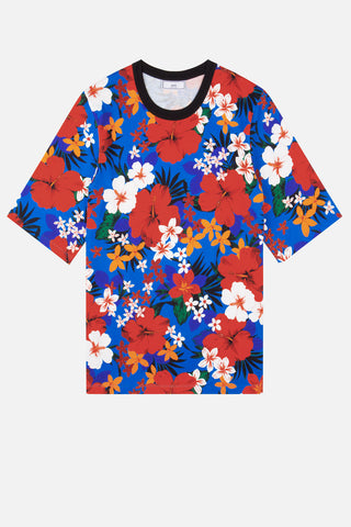 CAMISETA OVERSIZED ESTAMPADO FLORES