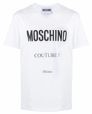 CAMISETA MOSCHINO COUTURE ESTAMPADO BLANCA