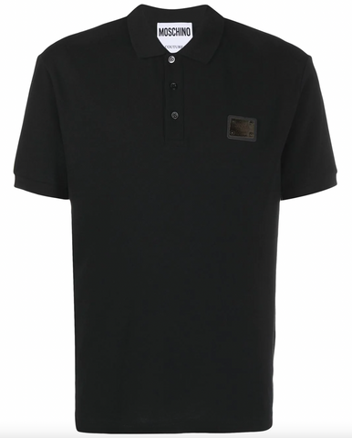 POLO NEGRO PLACA LOGO