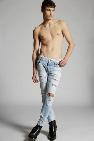 LIGHT PIRANA WASH SKATER JEANS