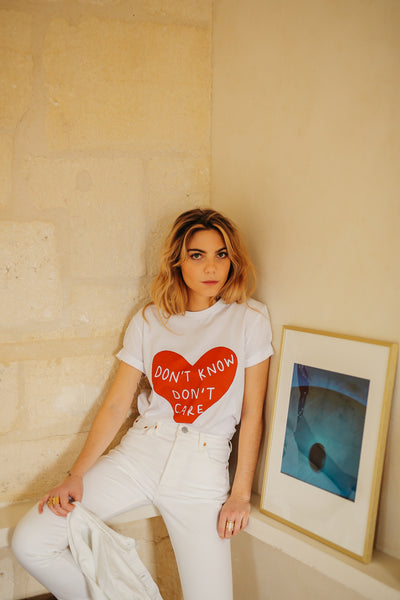 T-shirt Elise Chalmin Don't know don't Care 100% Coton Bio - Margaux Avril
