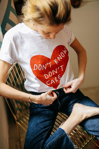 T-shirt Elise Chalmin Don't know don't Care 100% Coton Bio